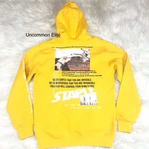 STAPLE PIGEON PULLOVER MARTIAL ARTS HOODIE YELLOW